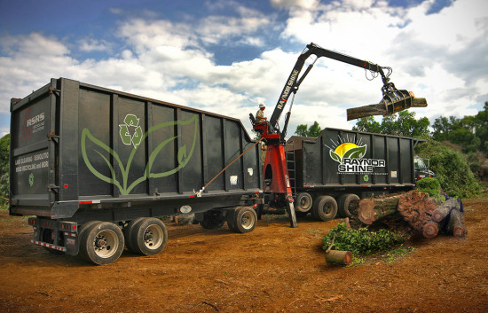 Dump Trailer With Grapple For Sale >> Raynor Shine Mulch Installation, and debris pick up – Eco Friendly Mulch and Mulch Installation